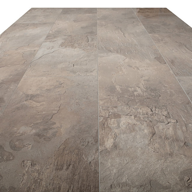 Kronotex Glamour 8mm High Gloss Tile Monreal Slate 4V by Falquon Laminate Flooring