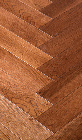 Solid Herringbone Chateau Oak Hardwood Flooring
